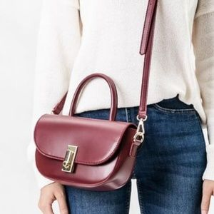 """ALBA"" in Burgundy Crossbody by Melie Bianco"